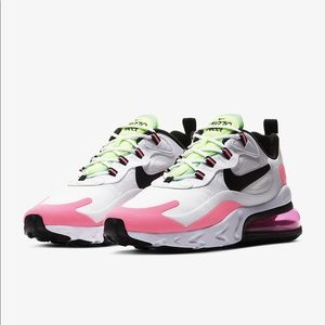 NIKE Air Max 270 React White/Black/Hyper Pink